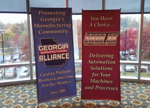 SherTek and Georgia Manufacturing Alliance banners, GMA is a strategic partner